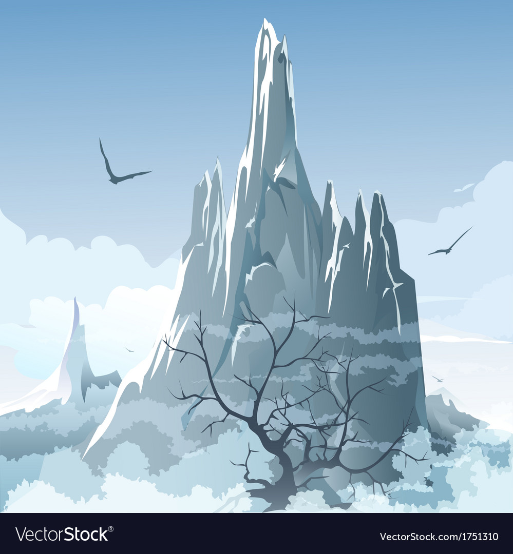 The mountains vector | Price: 1 Credit (USD $1)