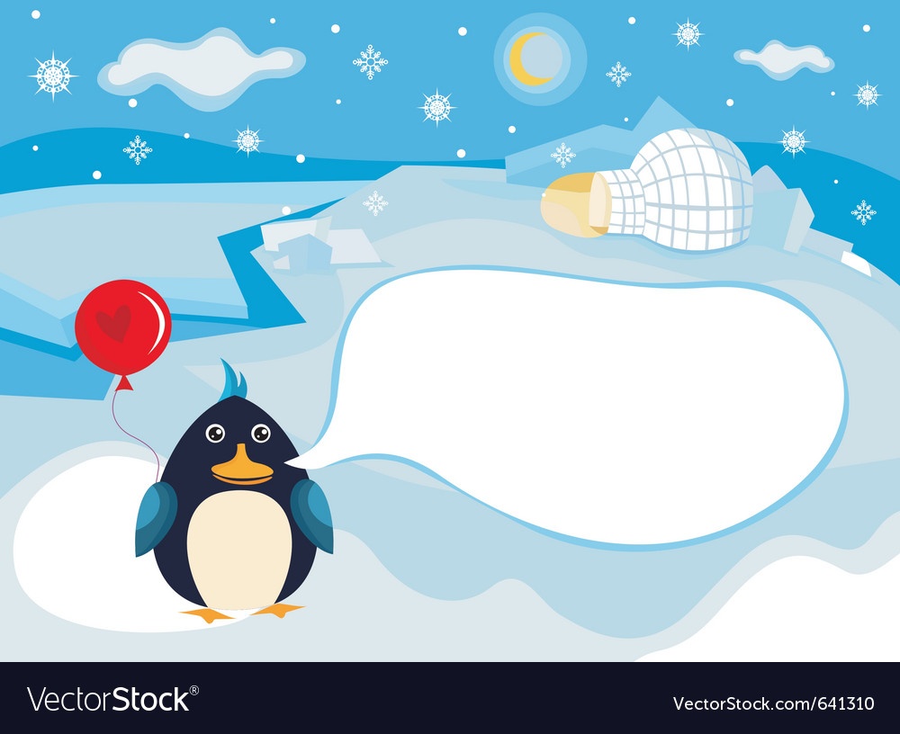 North pole background vector | Price: 3 Credit (USD $3)