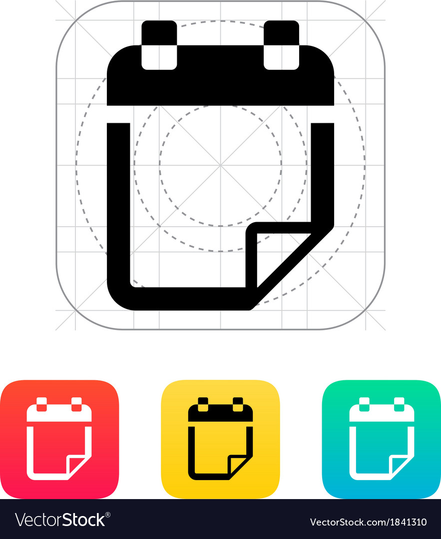 Note flip icon vector | Price: 1 Credit (USD $1)