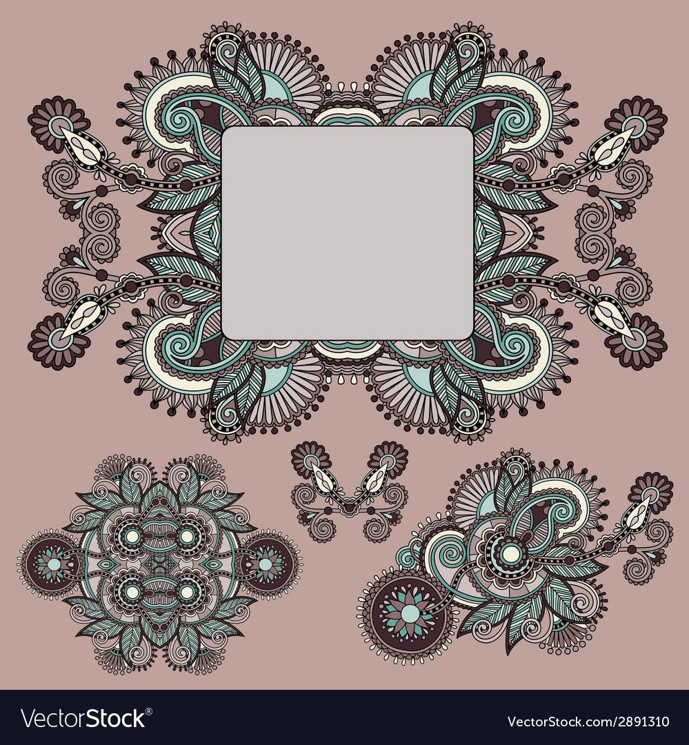 Ornamental floral adornment vector | Price: 1 Credit (USD $1)