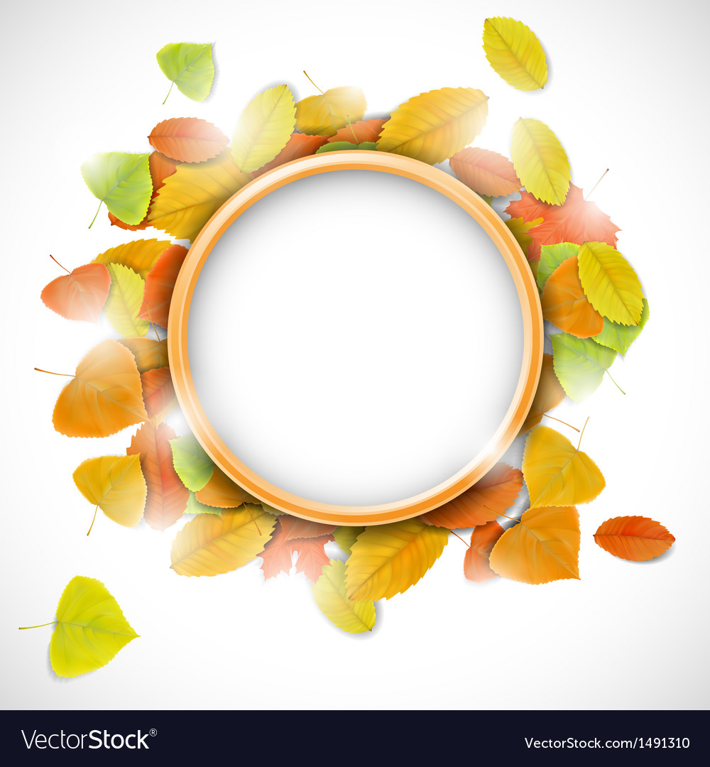 Place for text with autumn leaves vector | Price: 1 Credit (USD $1)