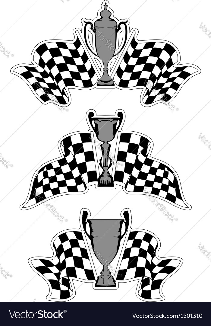Racing sport emblems vector | Price: 1 Credit (USD $1)
