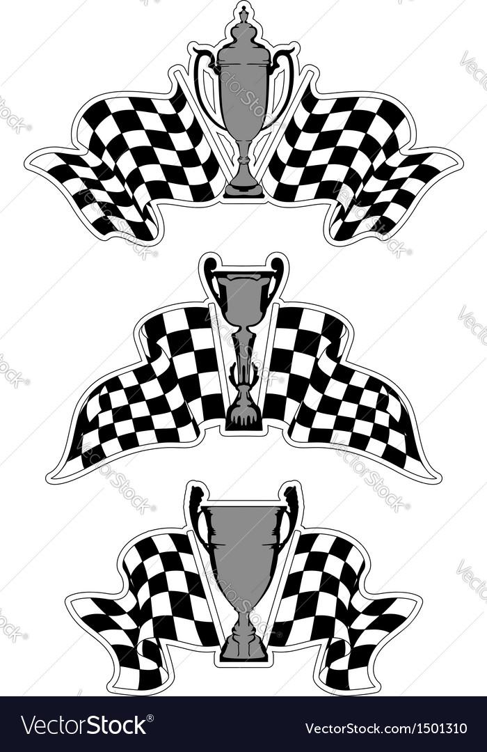 Racing sport emblems vector | Price: 1 Credit (USD $1)