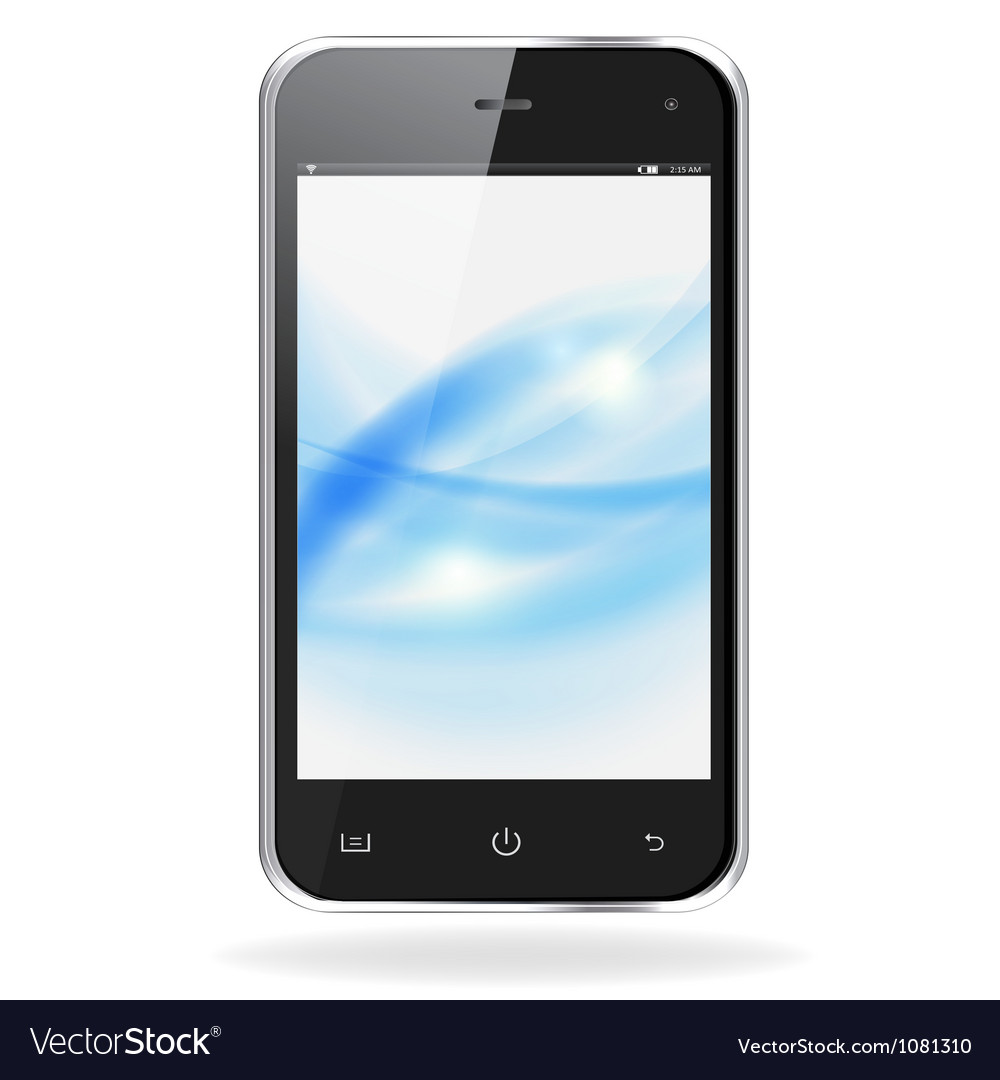 Realistic mobile phone vector | Price: 1 Credit (USD $1)