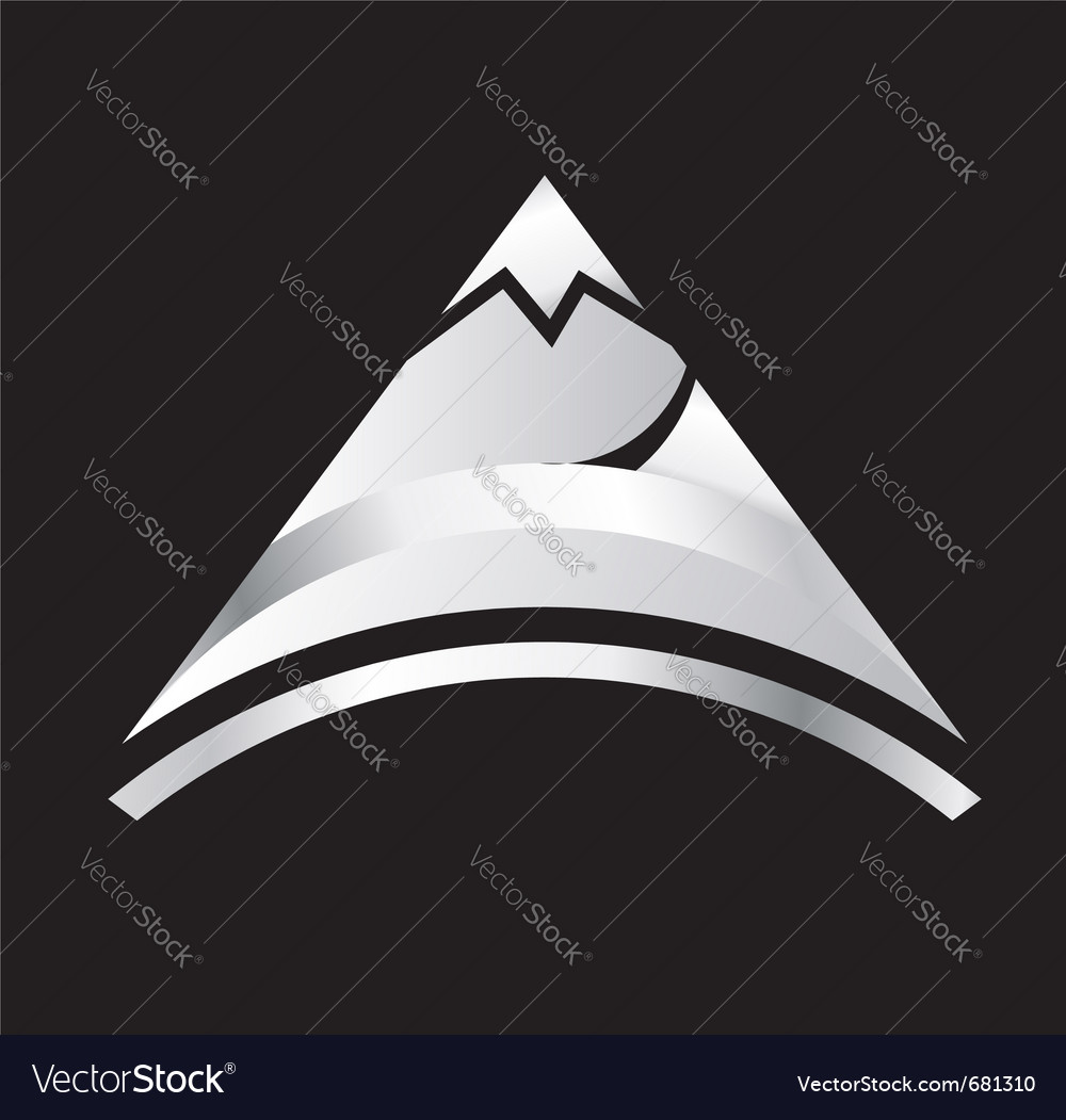 Silver mountain vector | Price: 1 Credit (USD $1)