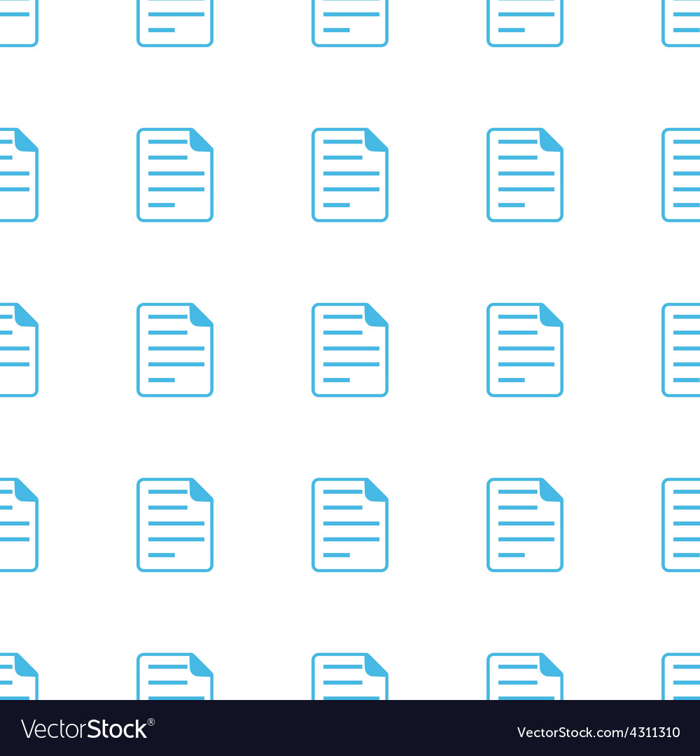 Unique document seamless pattern vector | Price: 1 Credit (USD $1)