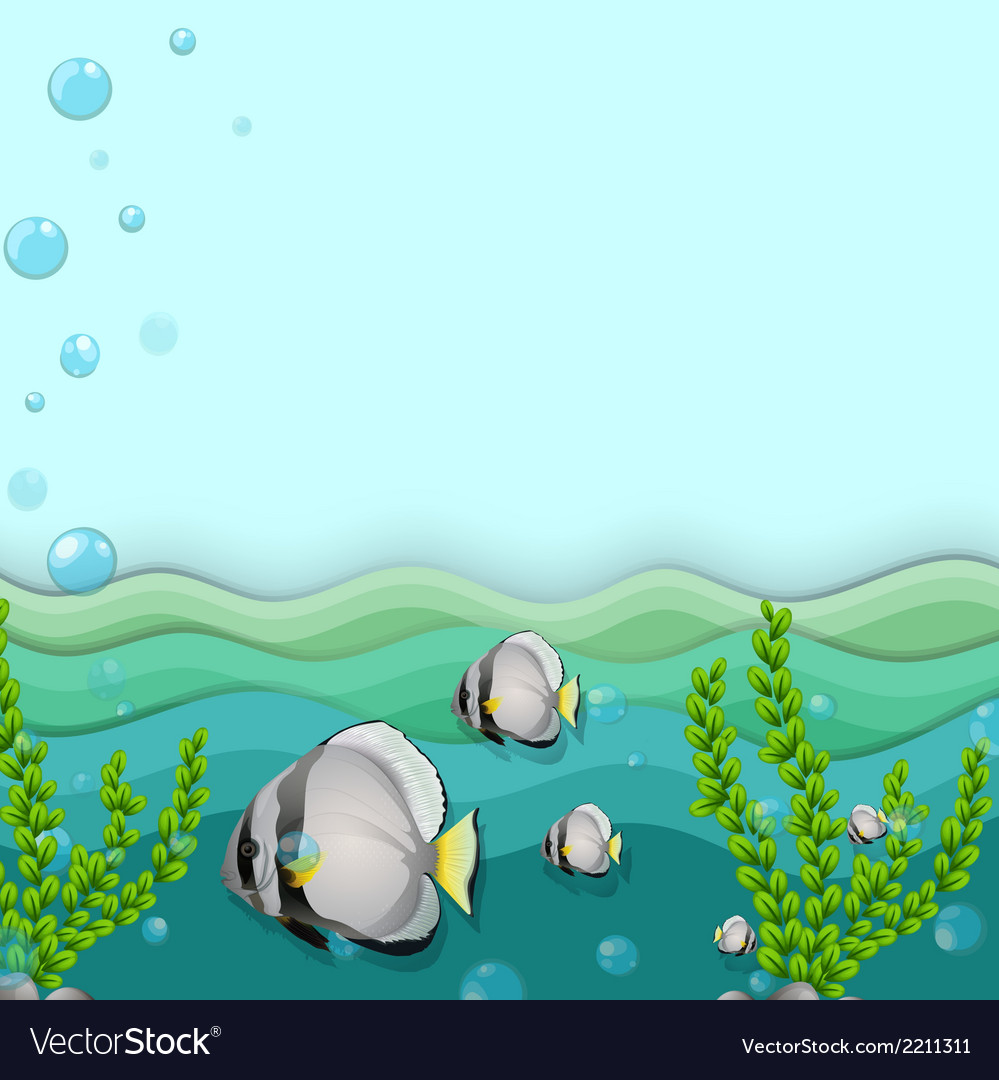 A school of fishes underwater vector | Price: 1 Credit (USD $1)