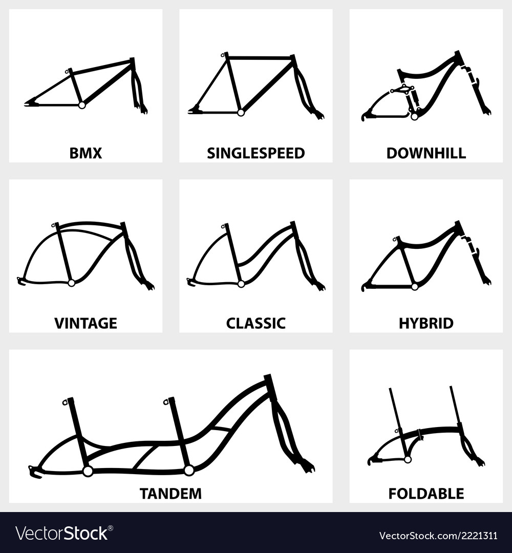 Bicycle frame icon vector | Price: 1 Credit (USD $1)