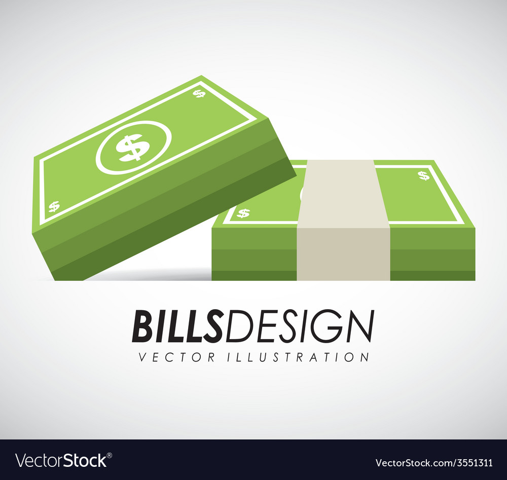 Bills money vector | Price: 1 Credit (USD $1)