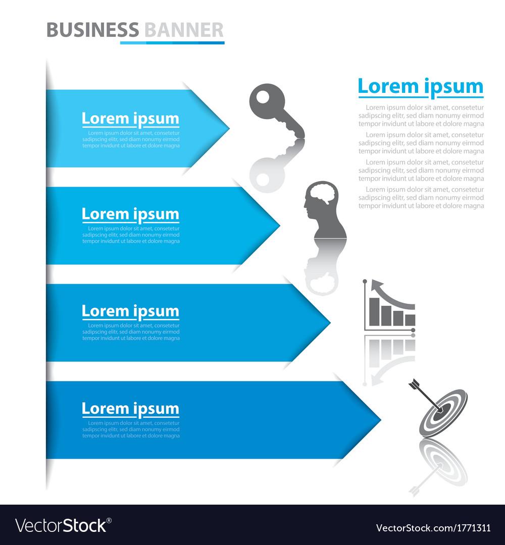 Business arrow banner infographics vector | Price: 1 Credit (USD $1)