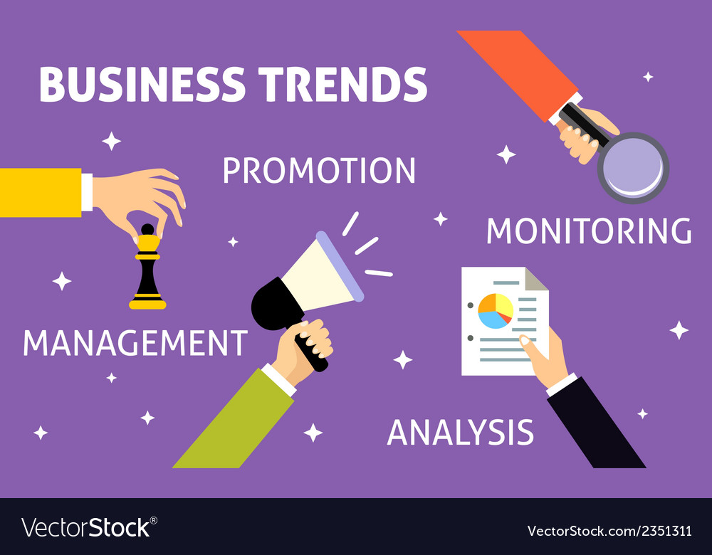 Business trends hands vector | Price: 1 Credit (USD $1)