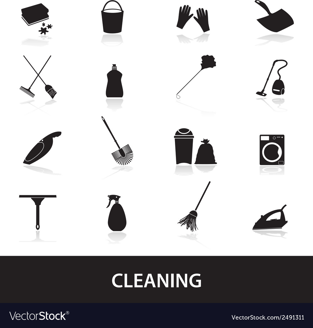 Cleaning icons set eps10 vector | Price: 1 Credit (USD $1)