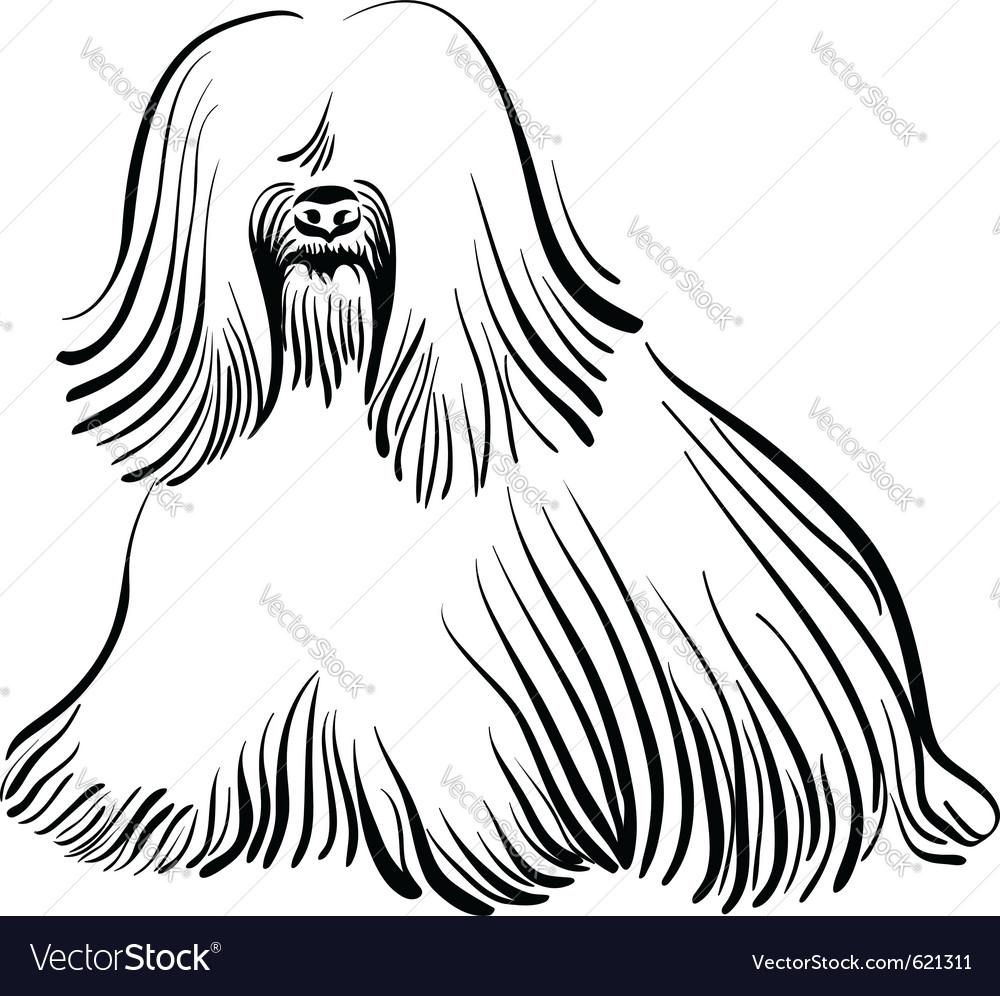 Dog sketch vector | Price: 1 Credit (USD $1)