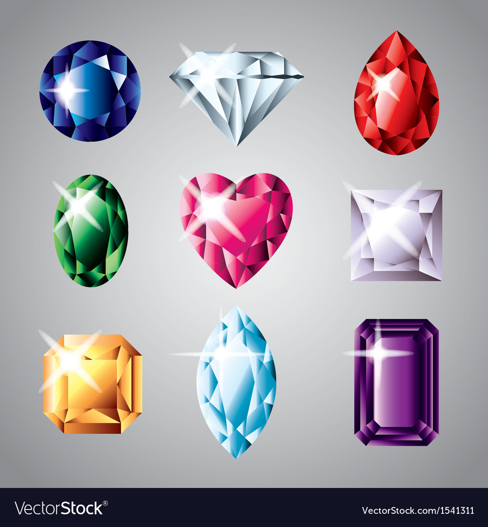Gemstones set vector | Price: 3 Credit (USD $3)