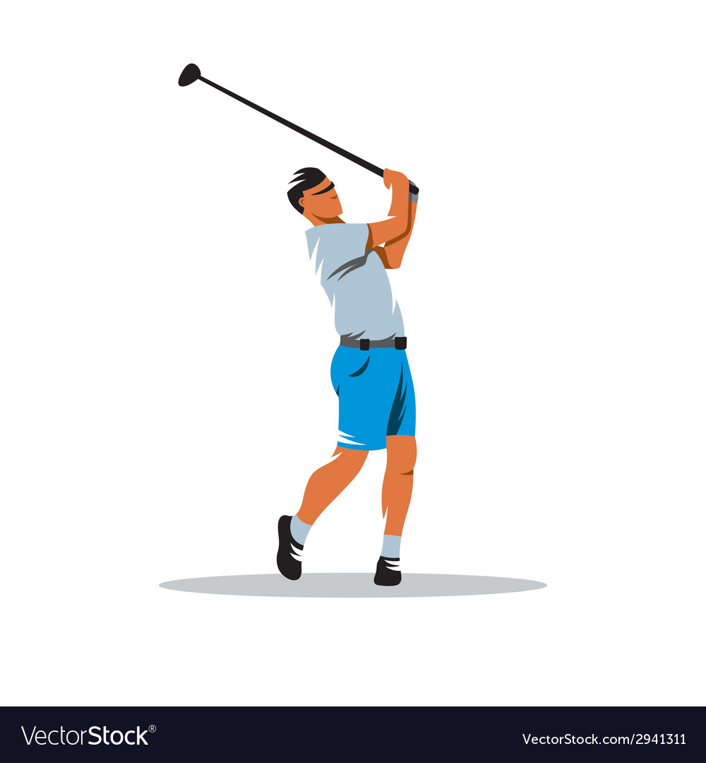 Golfer sign vector | Price: 1 Credit (USD $1)