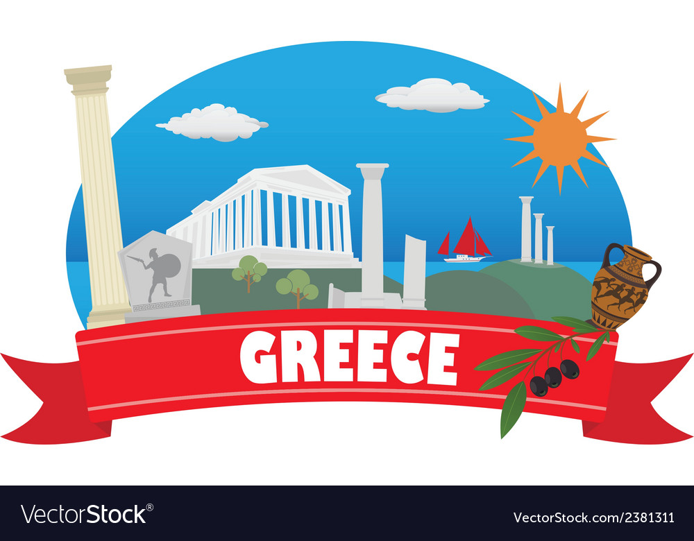 Greece vector | Price: 1 Credit (USD $1)