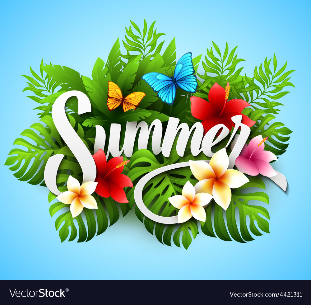 Inscription summer with vector | Price: 3 Credit (USD $3)