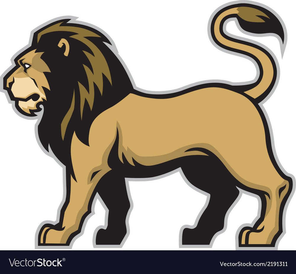 Lion mascot vector | Price: 1 Credit (USD $1)