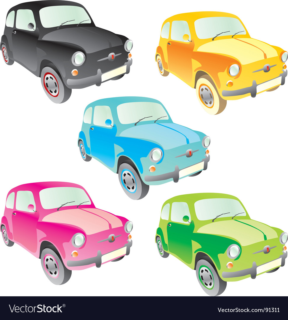 Old cars vector | Price: 1 Credit (USD $1)