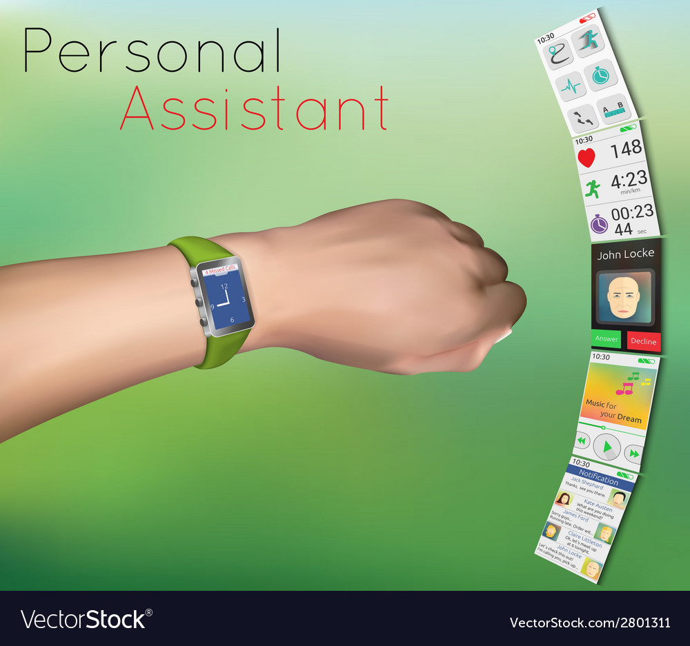 Smart watches on hand vector | Price: 1 Credit (USD $1)
