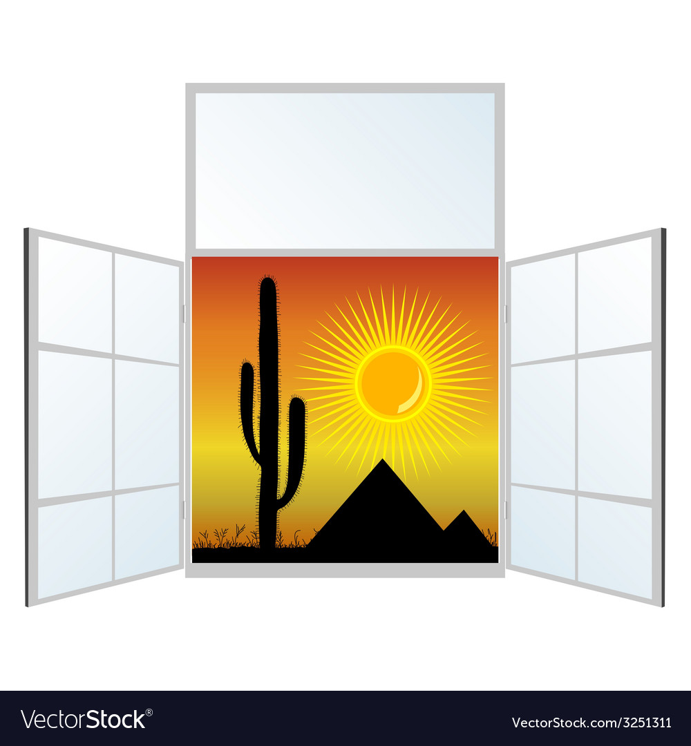 View from the window from the pyramids vector | Price: 1 Credit (USD $1)