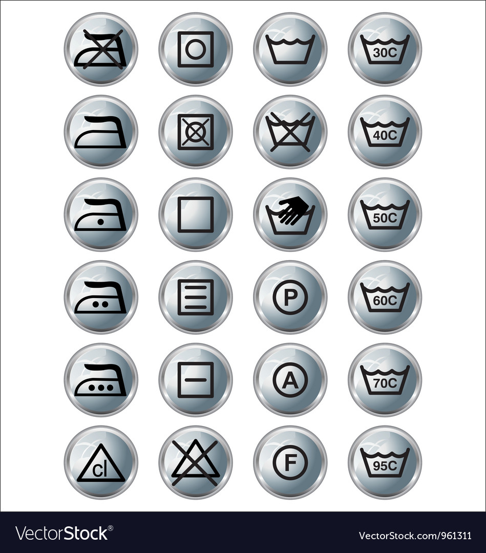 Washing sign silver edition vector | Price: 1 Credit (USD $1)