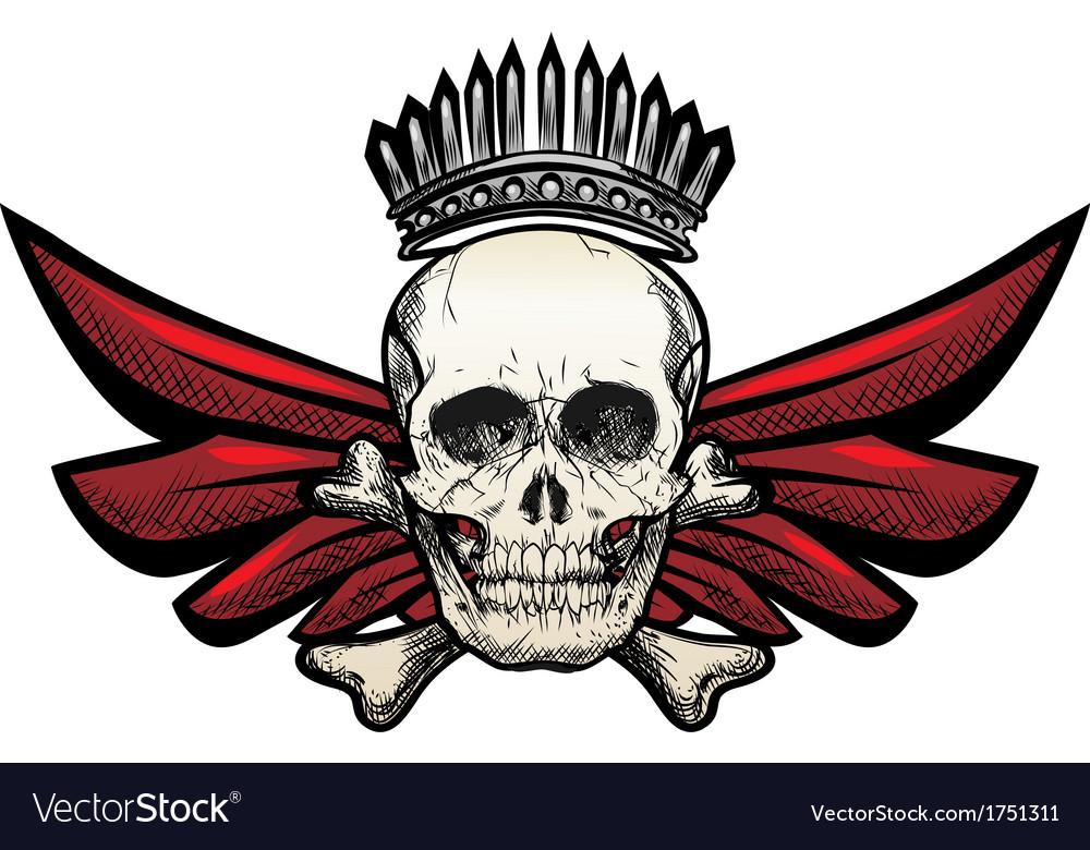 Winged skull vector | Price: 1 Credit (USD $1)