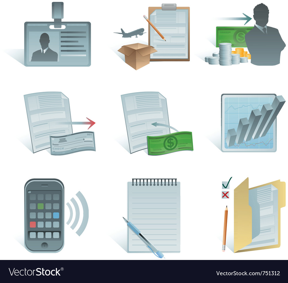 Accounting icons vector | Price: 3 Credit (USD $3)