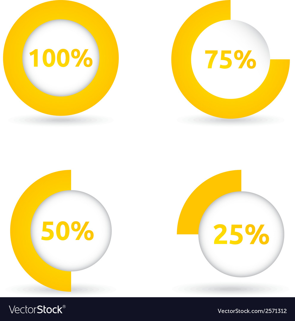 Circle loading bar vector | Price: 1 Credit (USD $1)