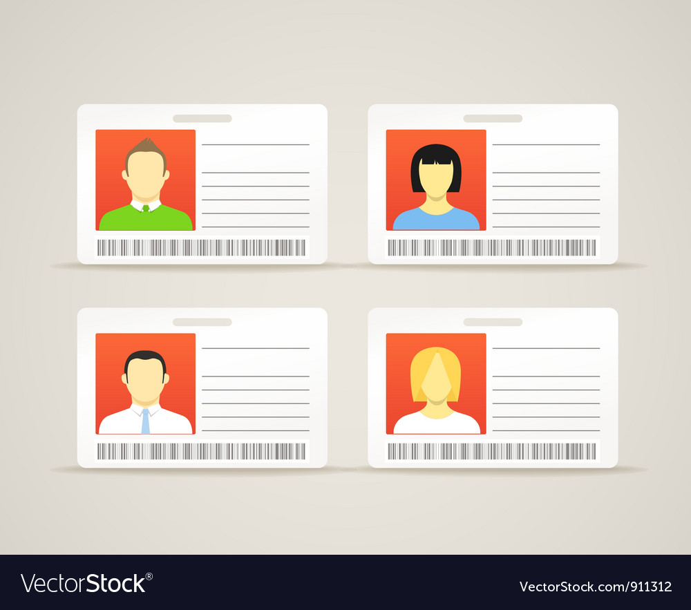 Collection of an id cards vector | Price: 3 Credit (USD $3)
