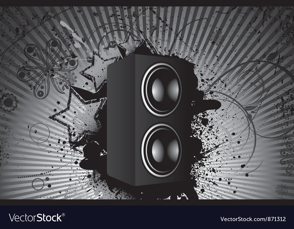Concert poster with speaker vector | Price: 1 Credit (USD $1)
