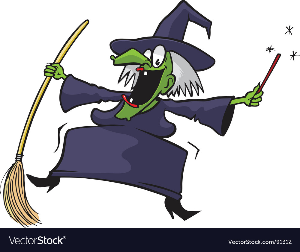 Crazy witch vector | Price: 1 Credit (USD $1)