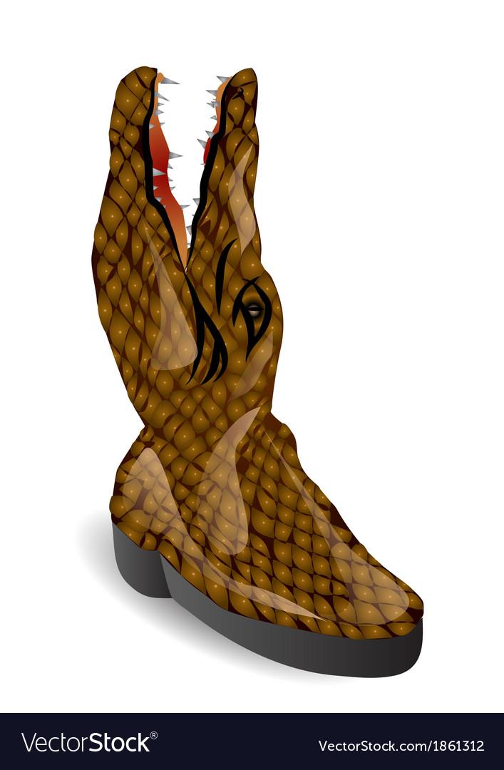 Crocodile boot vector   Price: 1 Credit (USD $1)