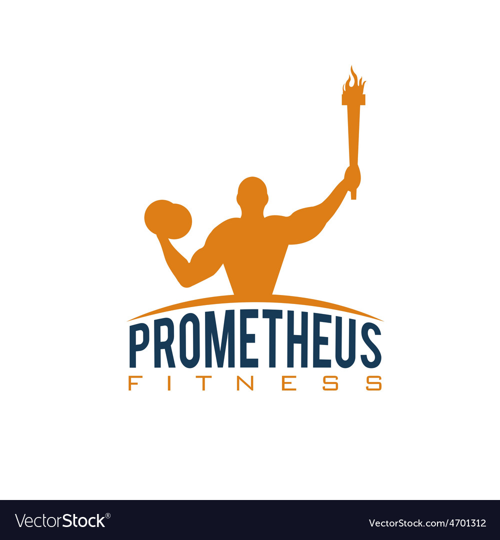 Fitness prometheus with man holding a torch vector | Price: 1 Credit (USD $1)
