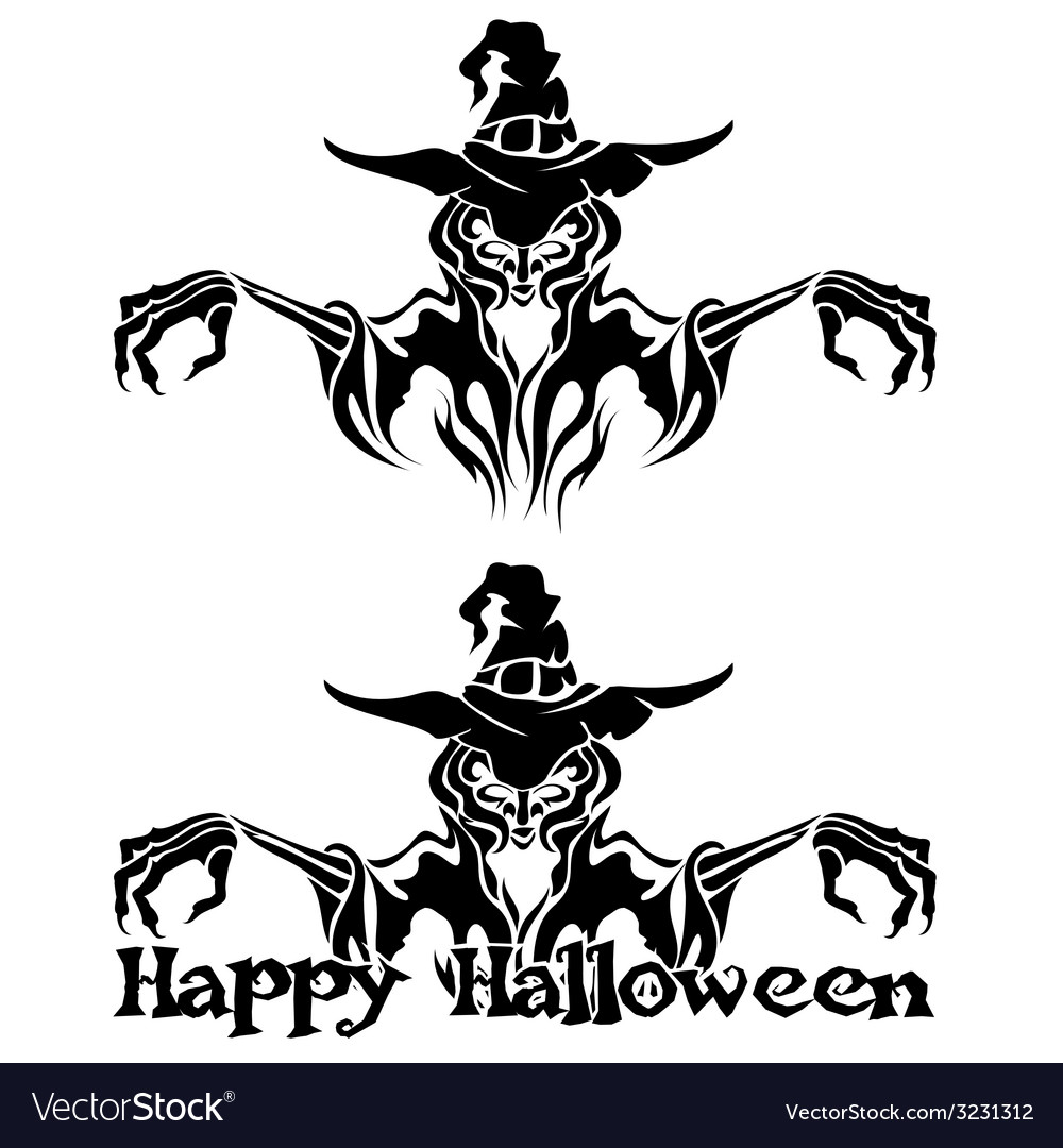 Halloween graphic of witch or warlock vector | Price: 1 Credit (USD $1)
