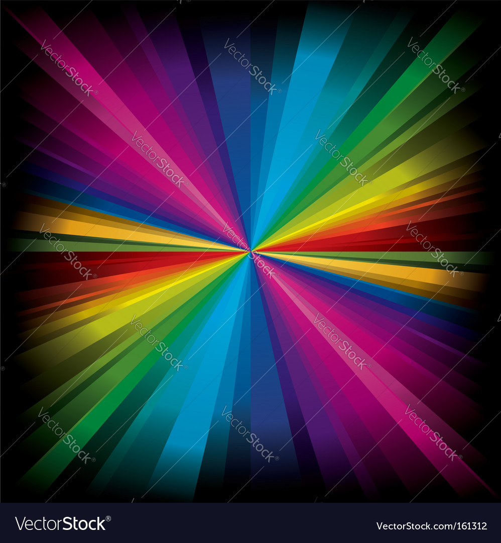 Magic radial rainbow light vector | Price: 1 Credit (USD $1)