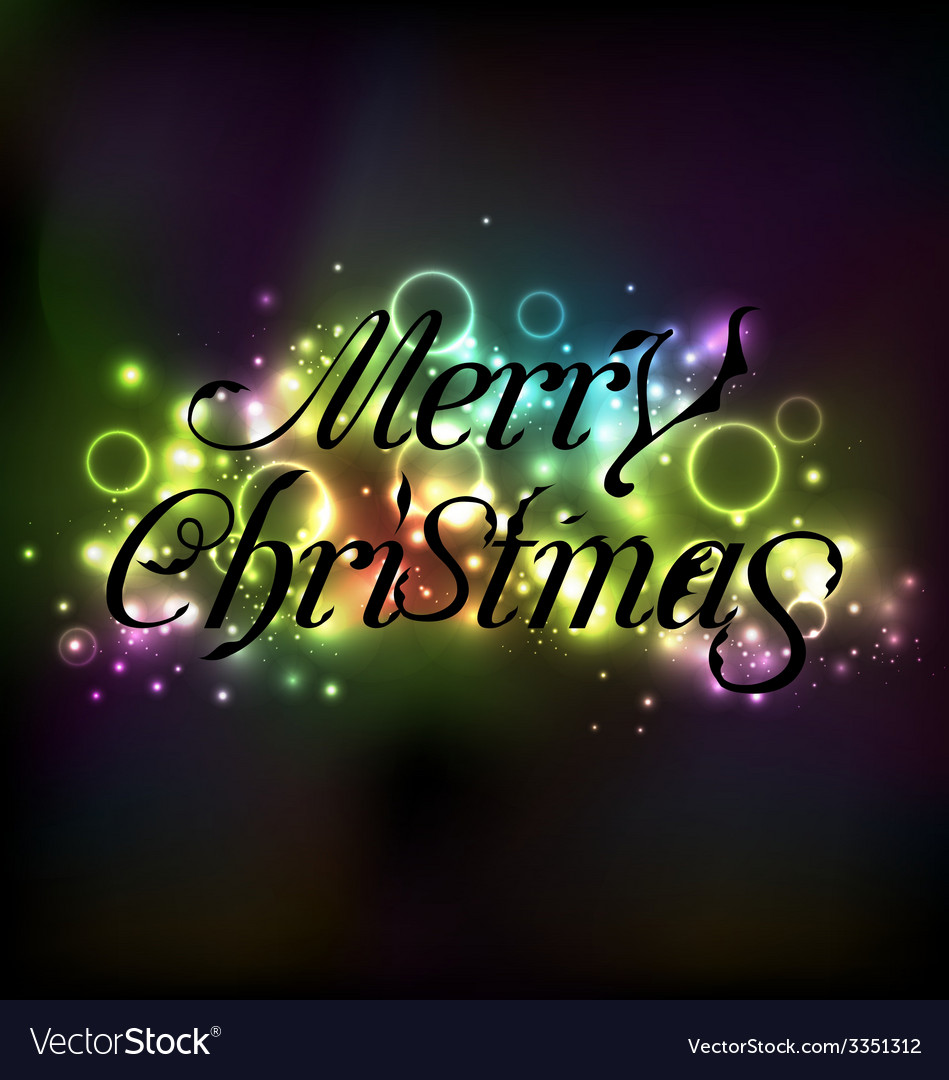 Merry christmas floral text design shimmering vector | Price: 1 Credit (USD $1)