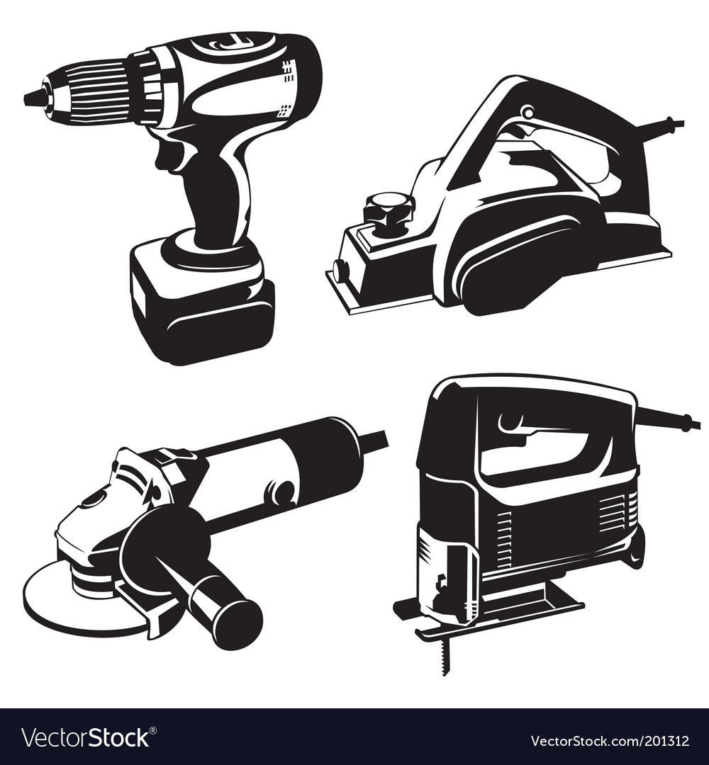 Power tools vector | Price: 1 Credit (USD $1)
