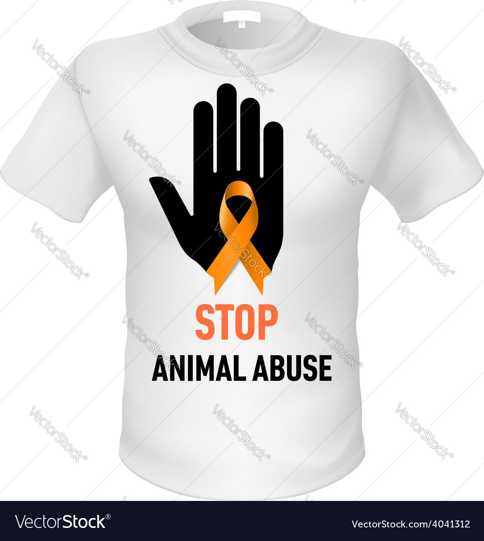 Tshirt animal abuse vector | Price: 1 Credit (USD $1)