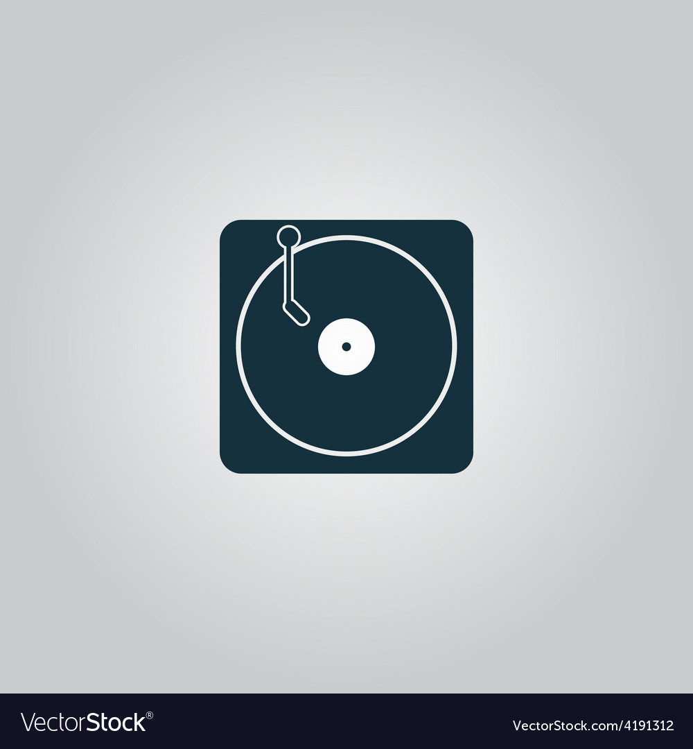 Turntable dj icon vector | Price: 1 Credit (USD $1)