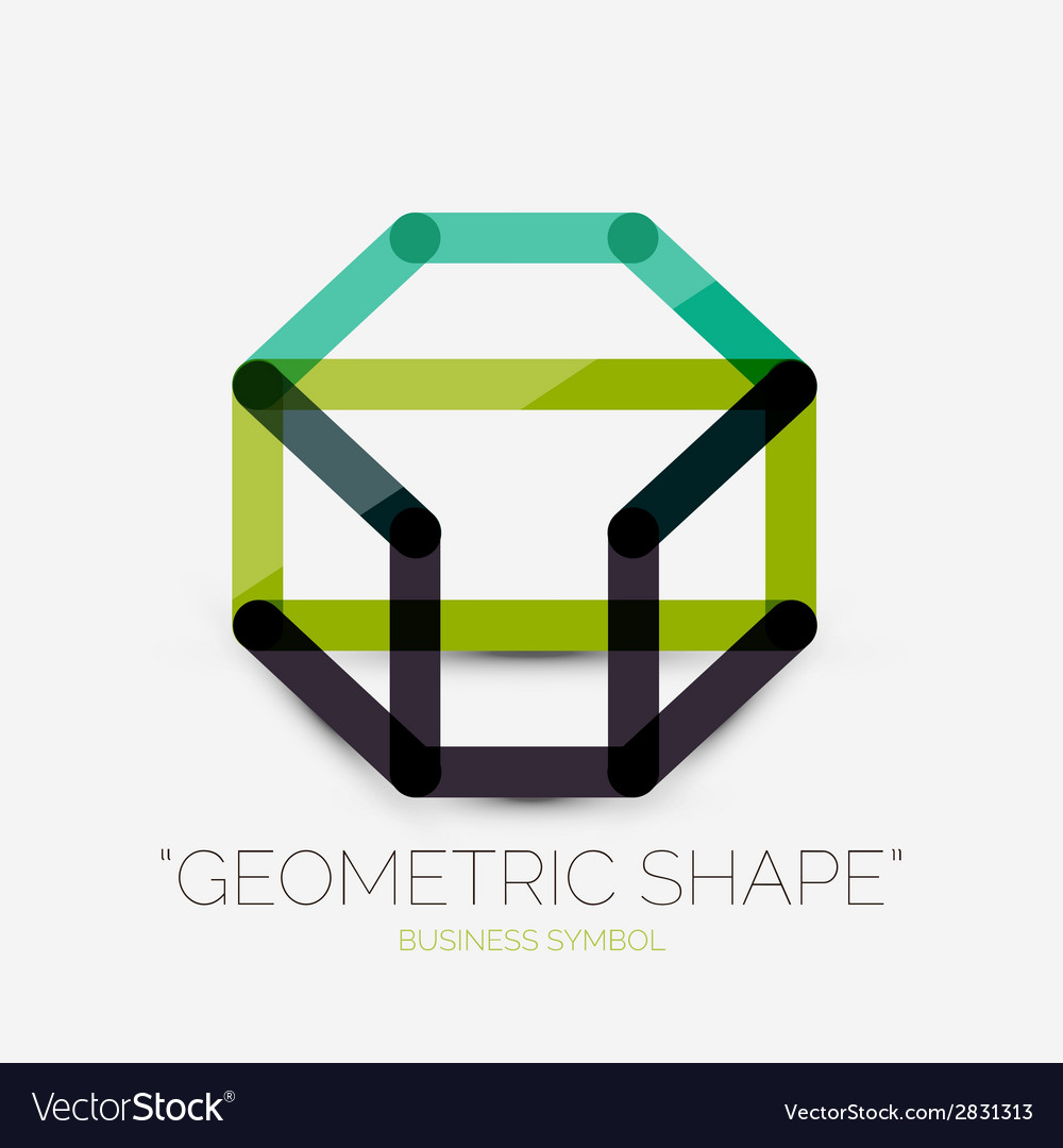 Abstract line composition icon company logo vector | Price: 1 Credit (USD $1)