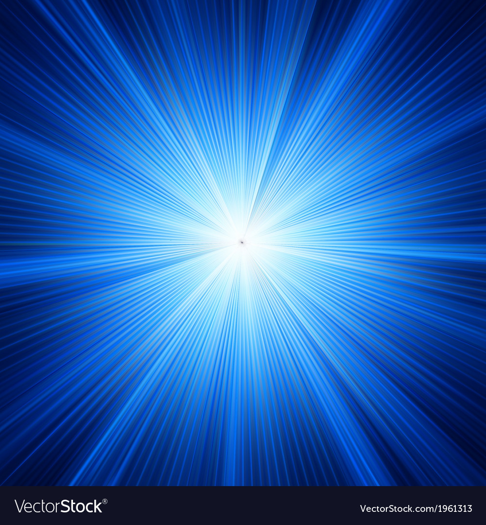 Blue color design with a burst eps 10 vector
