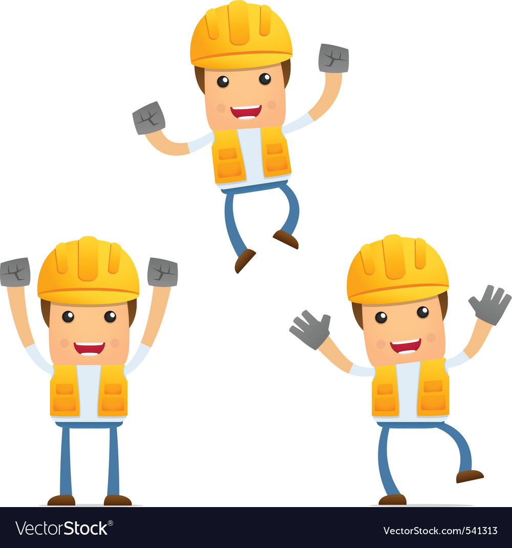 Cartoon construction worker vector | Price: 1 Credit (USD $1)