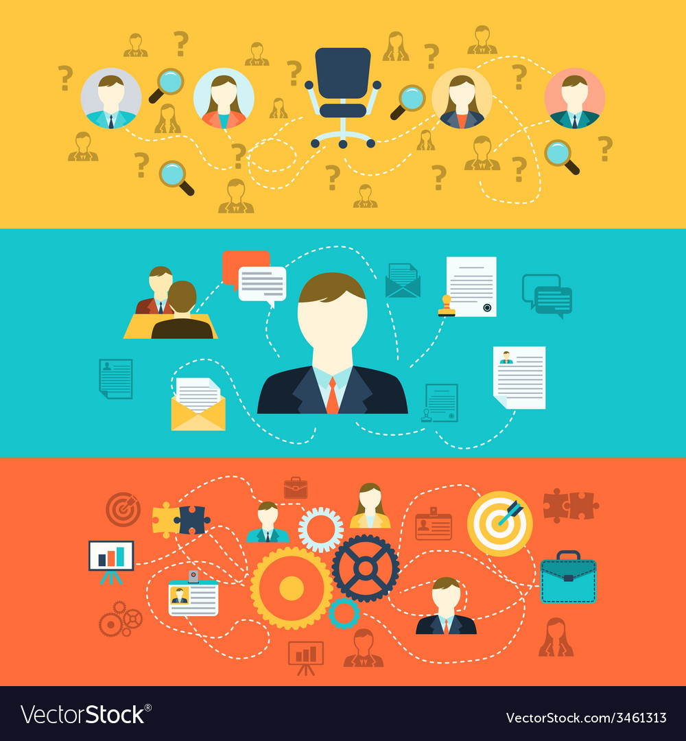 Human resources banners vector | Price: 1 Credit (USD $1)