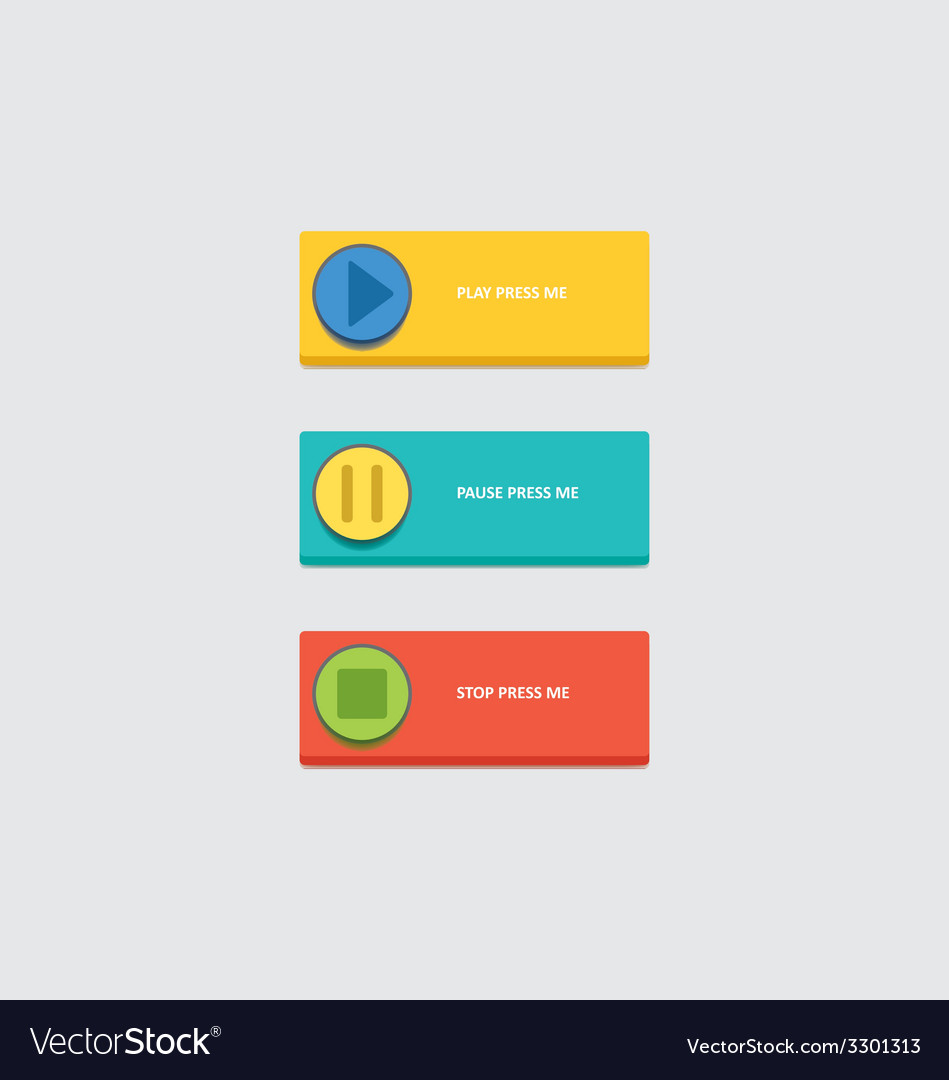 Music play buttons vector | Price: 1 Credit (USD $1)