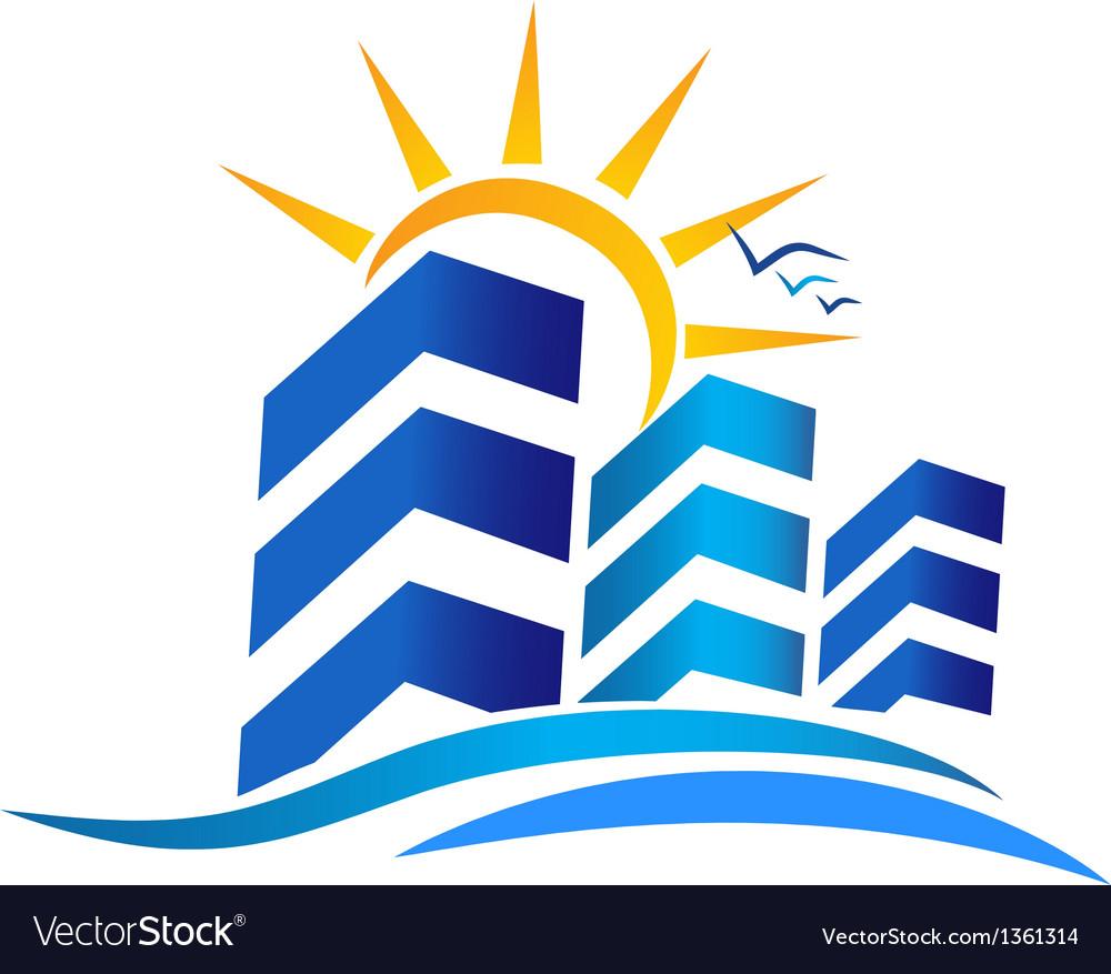 Apartments real estate logo vector | Price: 1 Credit (USD $1)