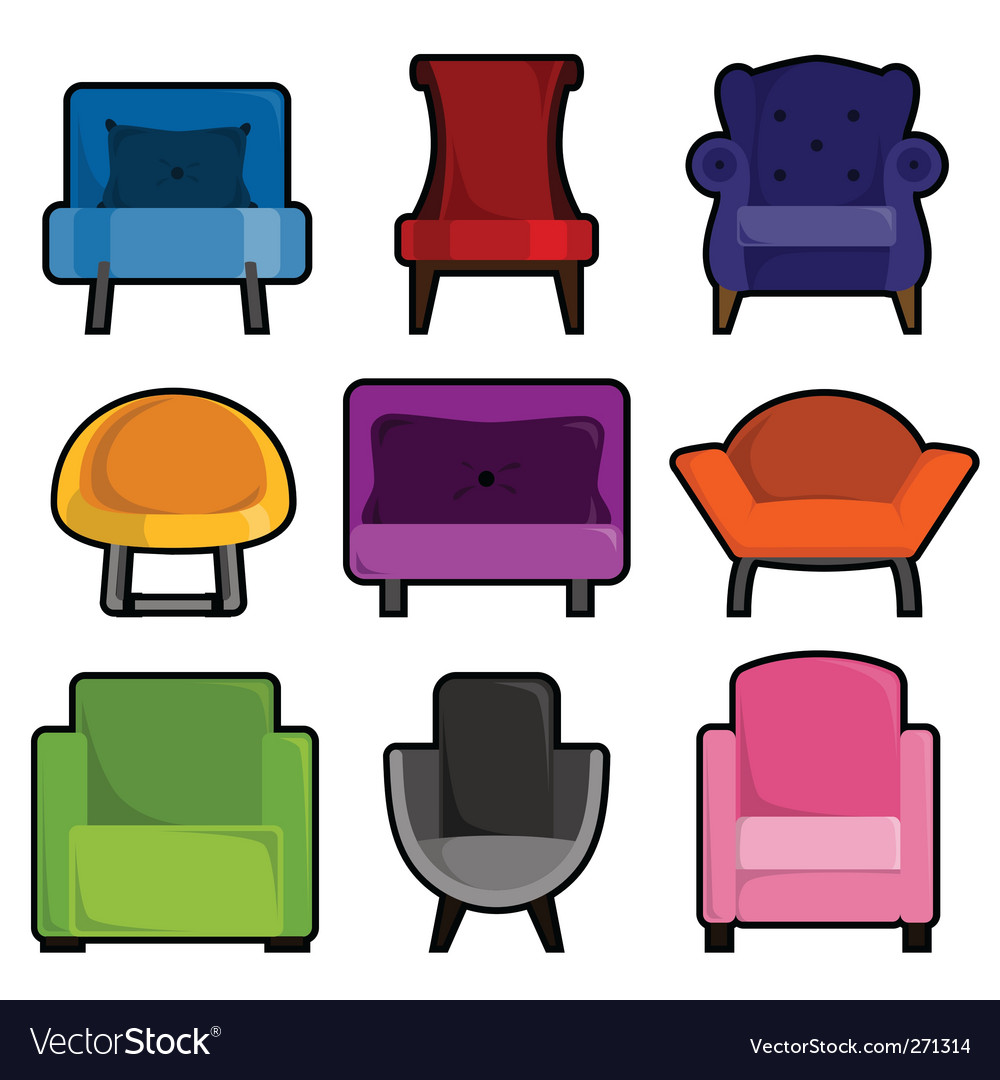 Armchair icon vector | Price: 1 Credit (USD $1)