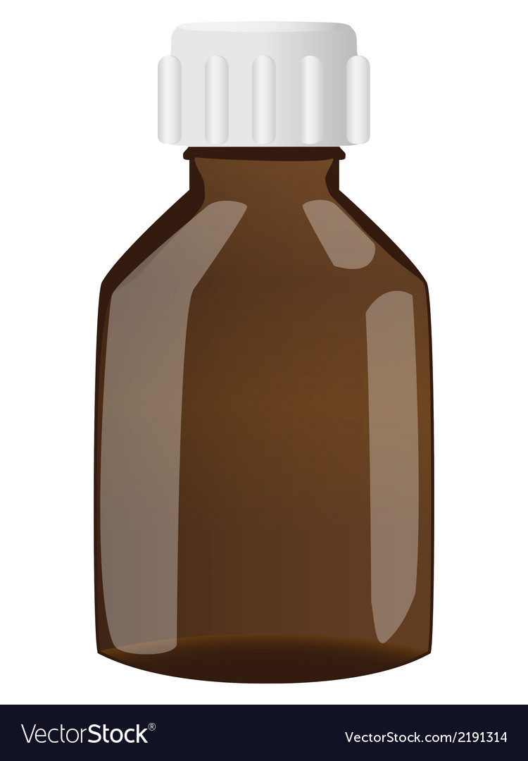 Brown bottle with cap vector | Price: 1 Credit (USD $1)