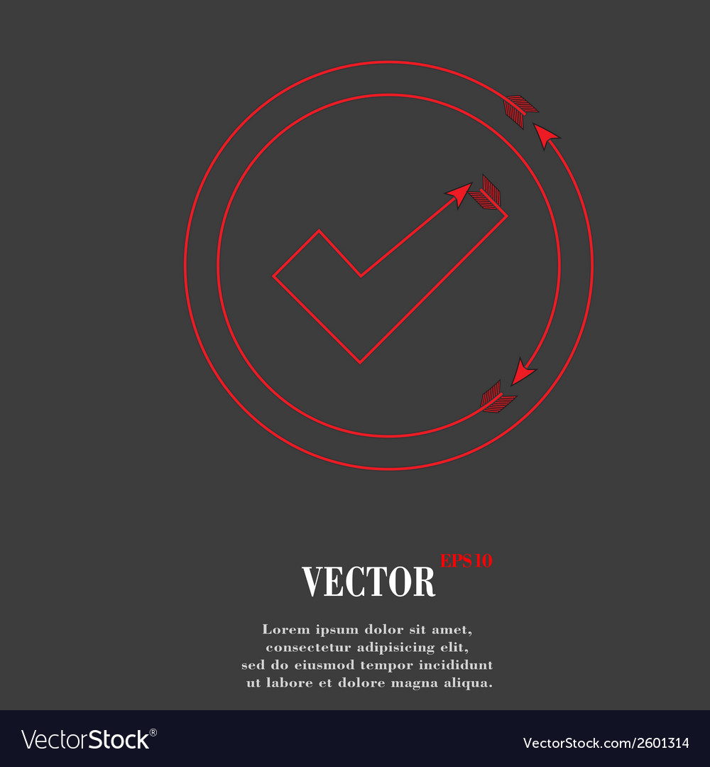 Check mark flat modern web button and space for vector | Price: 1 Credit (USD $1)