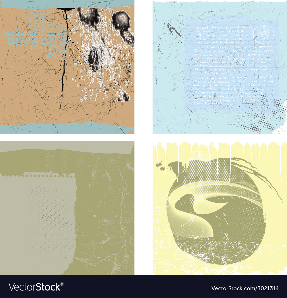Collection of grunge backgrounds vector   Price: 1 Credit (USD $1)